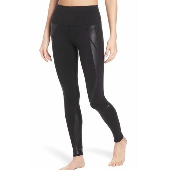 [Alo Yoga] High Waist Airbrush Facet Leggings